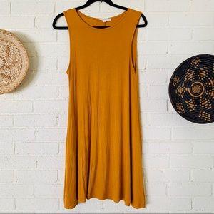 LA Hearts Mustard Swing Dress